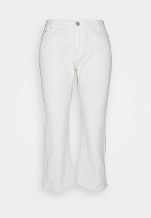 CROPPED  - Flared jeans - white