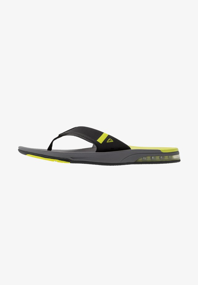 FANNING LOW - Flip Flops - grey/lime