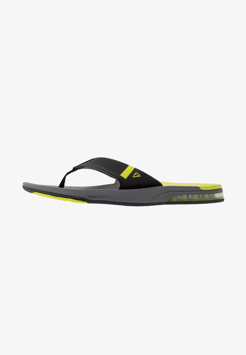 Reef - FANNING LOW - T-bar sandals - grey/lime