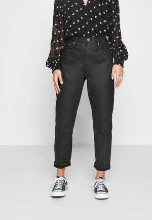 COATED MOM - Jeansy Relaxed Fit - black
