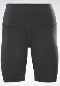 Reebok - STUDIO SHORT LEGGINGS - Shorts - black - 4
