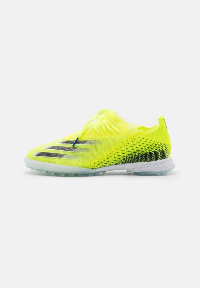 X GHOSTED.1 TF - Botas de fútbol multitacos - solar yellow/core black/royal blue