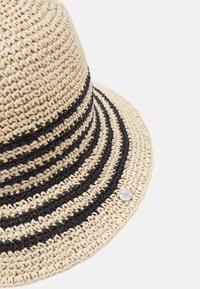 Lauren Ralph Lauren - STRIPE CROCHT BUCKET - Chapeau - natural/black - 4