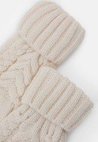 GAP - CABLE UNISEX - Gloves - soft ivory - 2