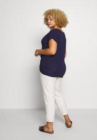 Anna Field Curvy - Print T-shirt - evening blue - 2