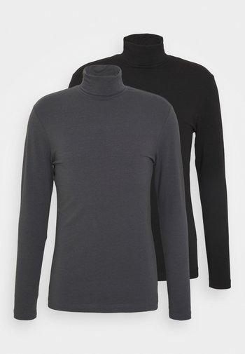 2 PACK - Bluzka z długim rękawem - grey/black
