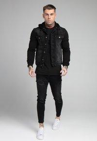 SIKSILK - JACKET - Denim jacket - black - 1