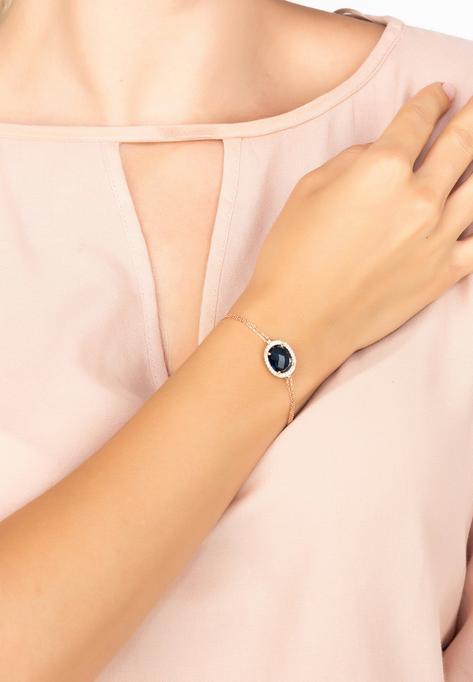 Latelita Armband - Or Rosé/blau