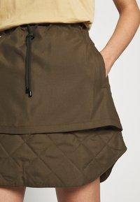 Han Kjøbenhavn - LAYER SKIRT - A-line skirt - dusty brown - 4