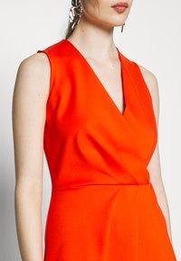 Closet - PLEATED WRAP A-LINE DRESS - Jersey dress - orange - 6