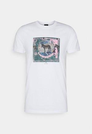SLIM FIT ZEBRA - Print T-shirt - white