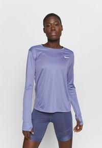 Nike Performance - MILER - Funktionsshirt - world indigo/silver - 0