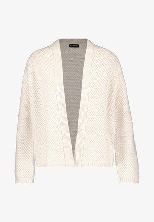 MIT STRUKTUR - Vest - winter white melange
