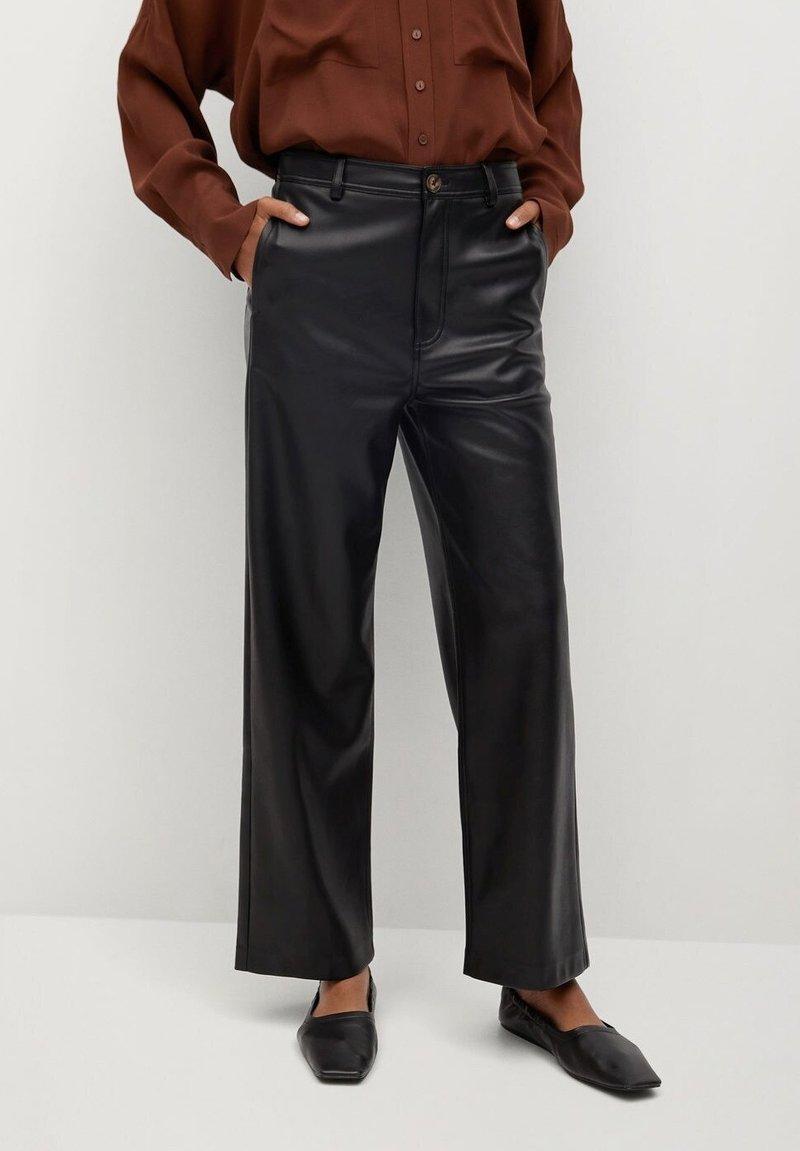 Mango - CAMILLA - Trousers - svart