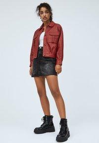 Pepe Jeans - LENA - Leather jacket - tibetan red - 1