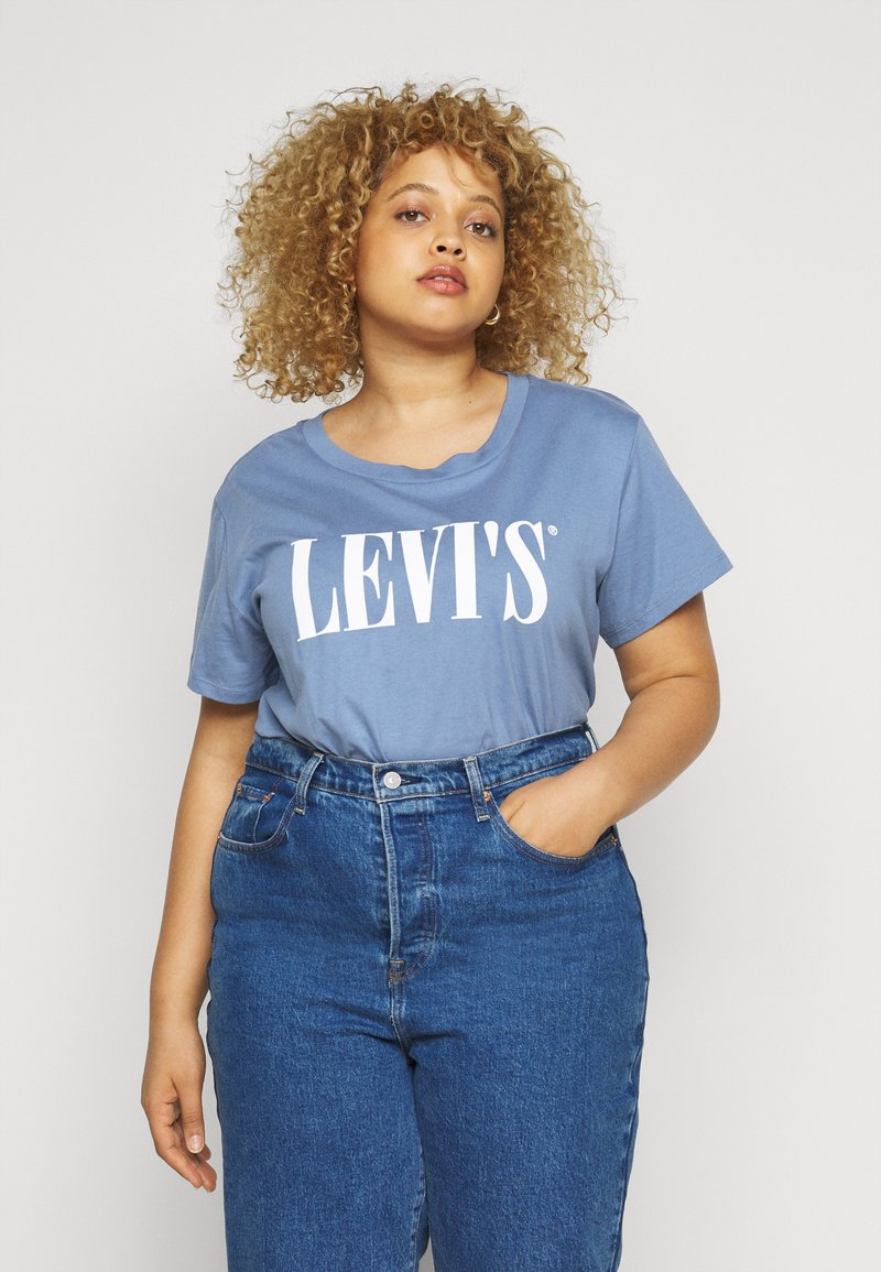 Levi's® Plus - VARSITY TEE - T-shirt con stampa - blue