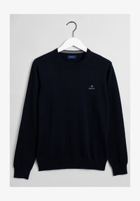 GANT - Stickad tröja - evening blue - 1