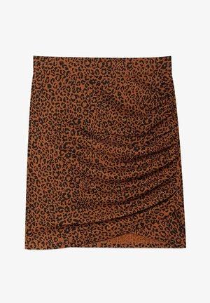Mini skirt - dark brown