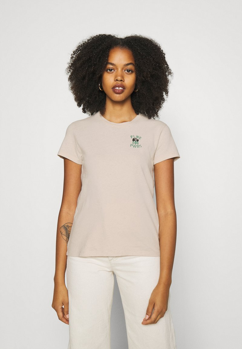 Levi's® - WELLTHREAD PERFECT TEE - T-shirt basic - sand