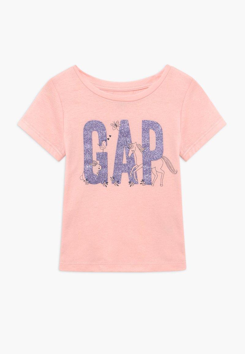 GAP - TODDLER GIRL LOGO - Triko spotiskem - icy pink