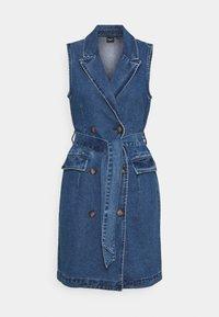 Vero Moda Tall - VMTAILOR BLAZER DRESS - Denim dress - medium blue denim - 0