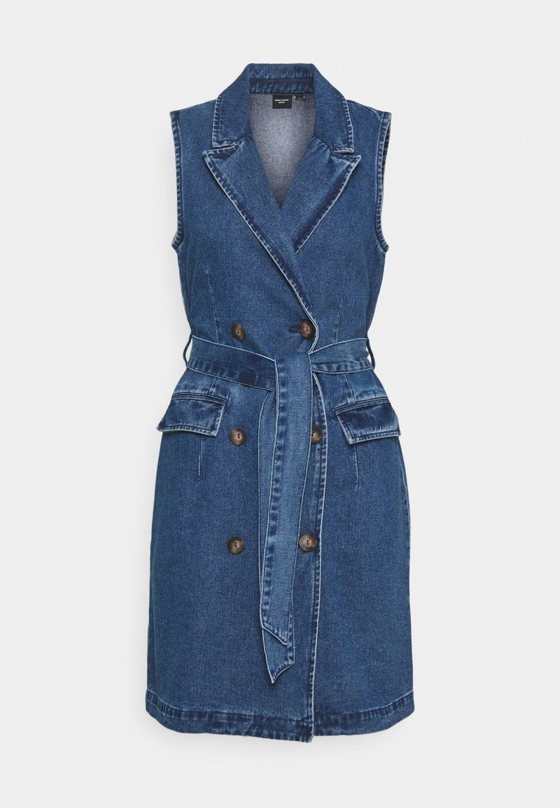 Vero Moda Tall - VMTAILOR BLAZER DRESS - Denim dress - medium blue denim