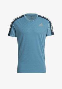 adidas Performance - OWN THE RUN 3-STRIPES RUNNING T-SHIRT - T-shirt med print - blue - 3