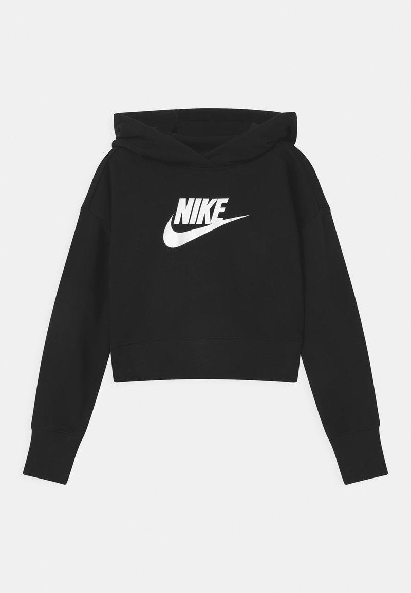 Nike Sportswear - CLUB CROP HOODIE - Bluza - black/white