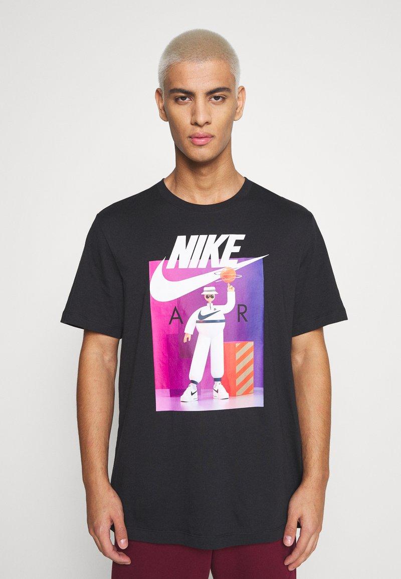 Nike Sportswear - TEE AIRMAN FUTURA - Print T-shirt - black