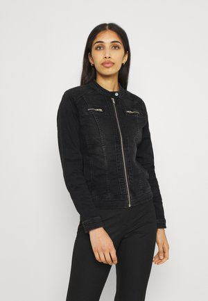 ONLTIA BANDIT BIKER JACKET - Giacca di jeans - black denim