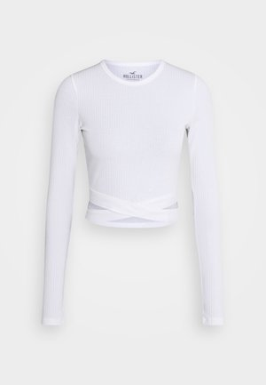 ULTRA CROP CUT OUT - Long sleeved top - white