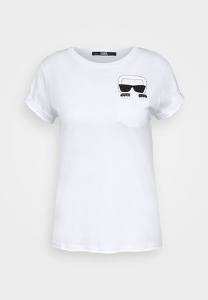IKONIK POCKET - Print T-shirt - white