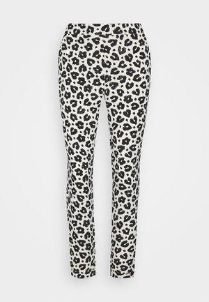 KATHY TROUSER - Spodnie materiałowe - cream white/black
