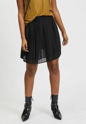 VIJEMO  - Pleated skirt - black