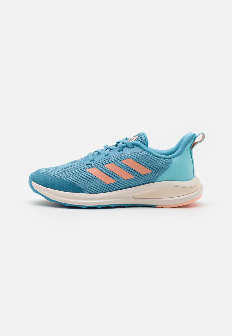 adidas Performance - FORTARUN UNISEX - Neutral running shoes - hazy blue/glow pink/hazy sky