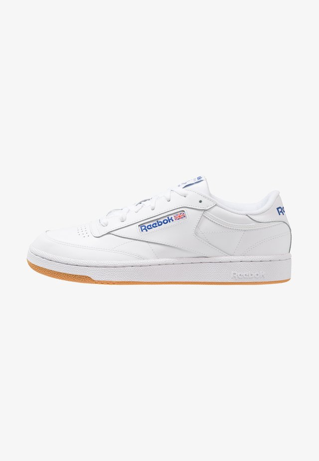 CLUB C 85 LEATHER UPPER SHOES - Matalavartiset tennarit - white/royal