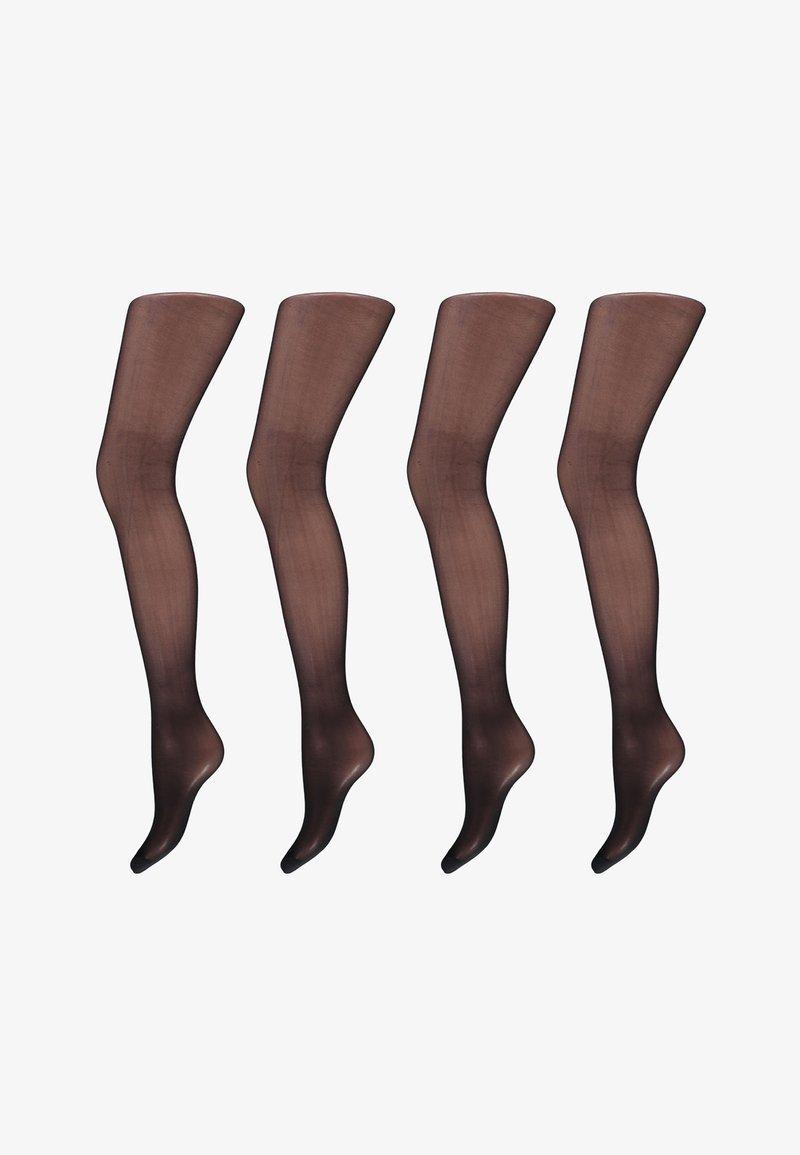Sarlini - 4er-Pack - Tights - black