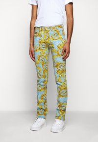 Versace Jeans Couture - BULL BAROQUE - Jeans slim fit - azzurro scuro - 0