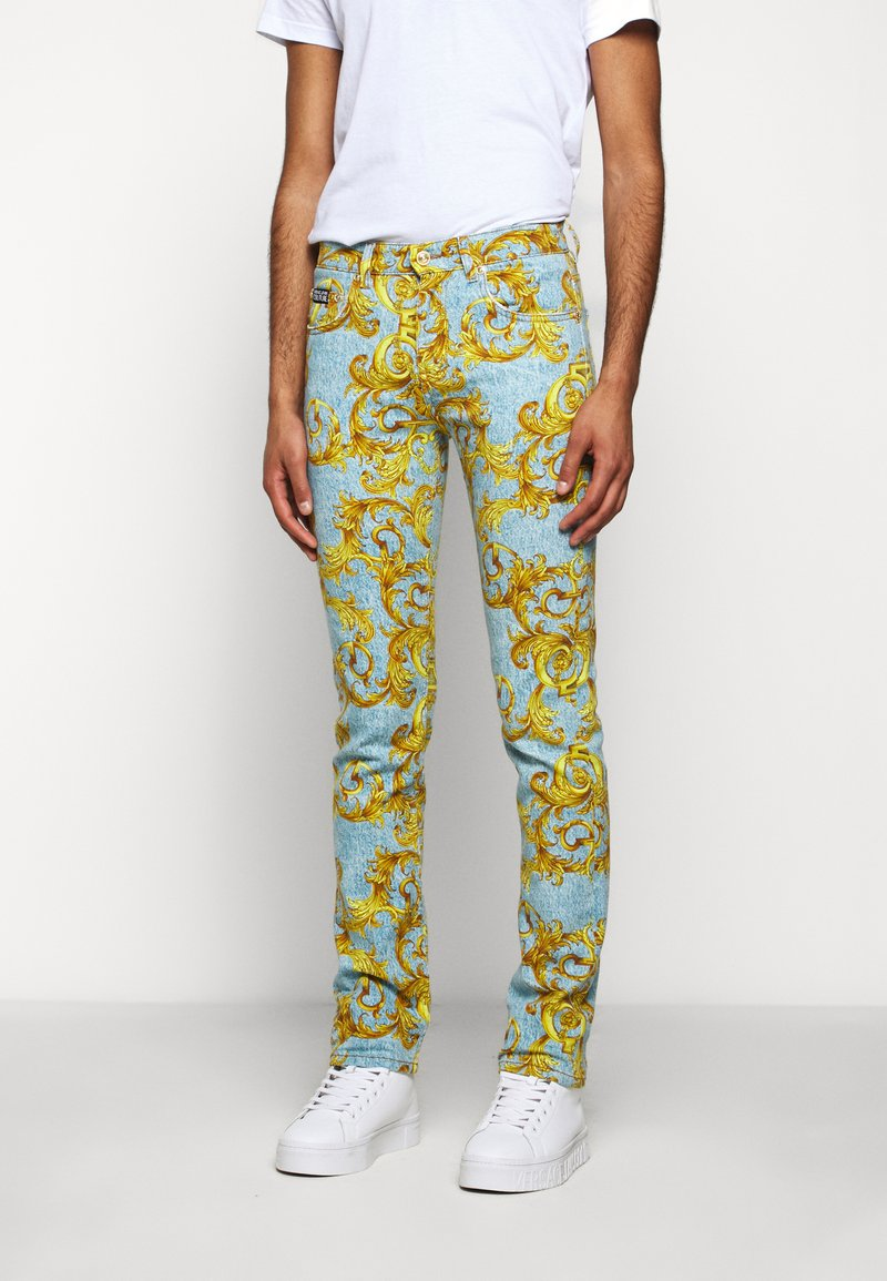 Versace Jeans Couture - BULL BAROQUE - Jeans slim fit - azzurro scuro