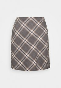 Abercrombie & Fitch - PLAID MINI SKIRT - Minisukně - grey - 5