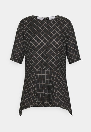 PRINTED SHORT SLEEVES - Blouse - black