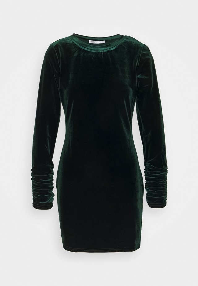 LONG SLEEVE DRESS - Day dress - deep green