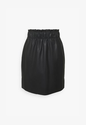 VMGWENRILEY PAPERBAG SKIRT - Mini skirt - black