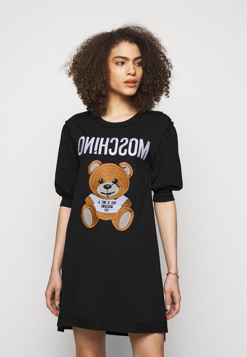 MOSCHINO - DRESS - Jersey dress - black