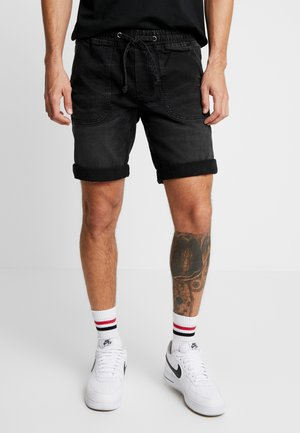 COLOGNE DESTROY - Denim shorts - marble black