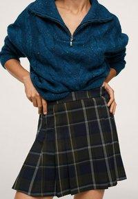 Mango - Pleated skirt - vert - 5