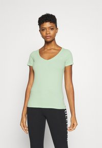 Hollister Co. - Print T-shirt - white/pastel green/mellow rose - 4