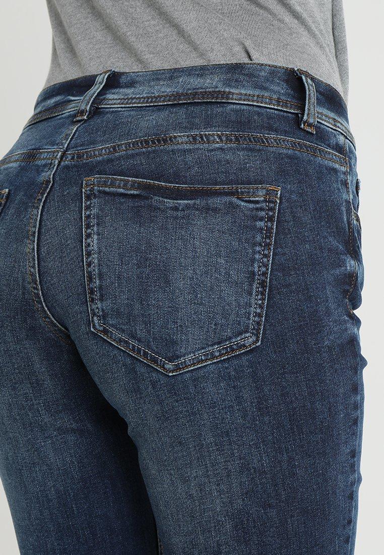 TOM TAILOR ALEXA - Jeans Straight Leg - mid stone wash denim blue/blue denim drRMas