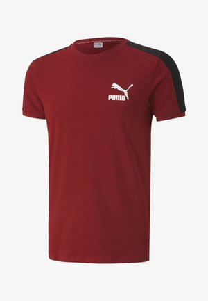 ICONIC SLIM - T-shirt sportiva - red dahlia