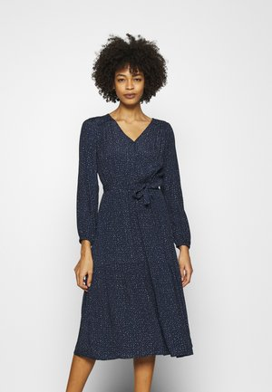 WRAP MIDI - Day dress - navy